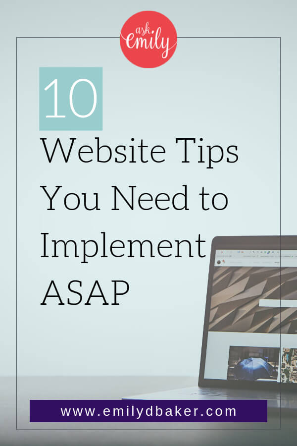 If you are a small business owner with a website or you're thinking about setting up a website here are 10 Tips you need to know!